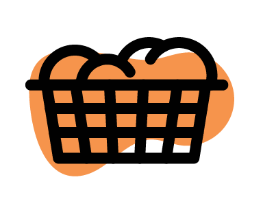 Washing Basket With Clothes